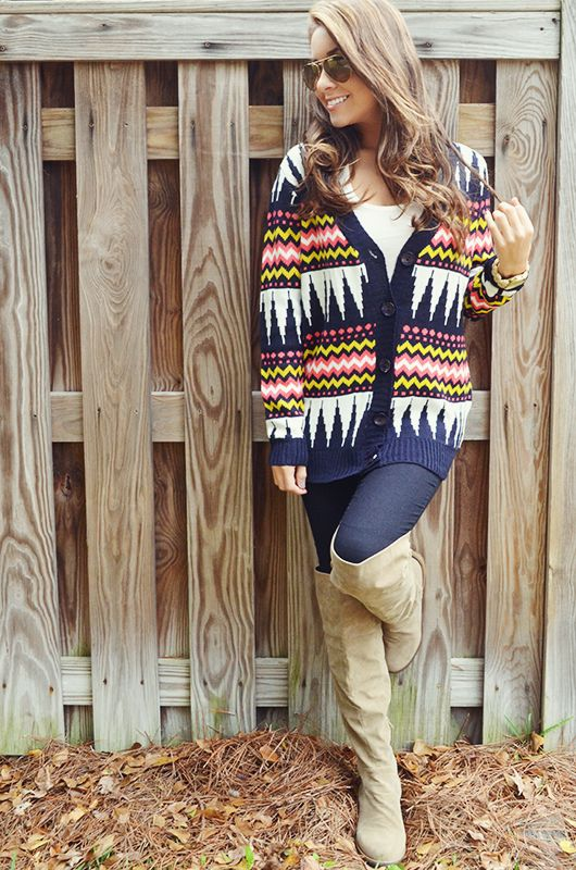 All Mixed Up Cardigan: Ivory/Multi