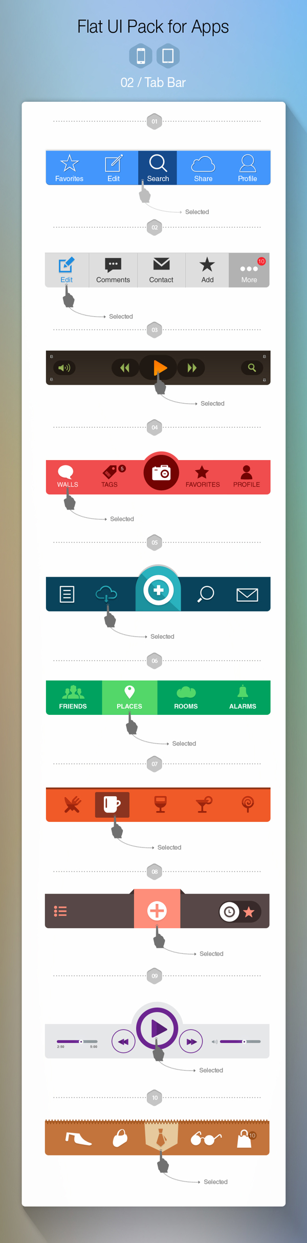 Flat UI Pack for Apps – Build Apps. Beautifully