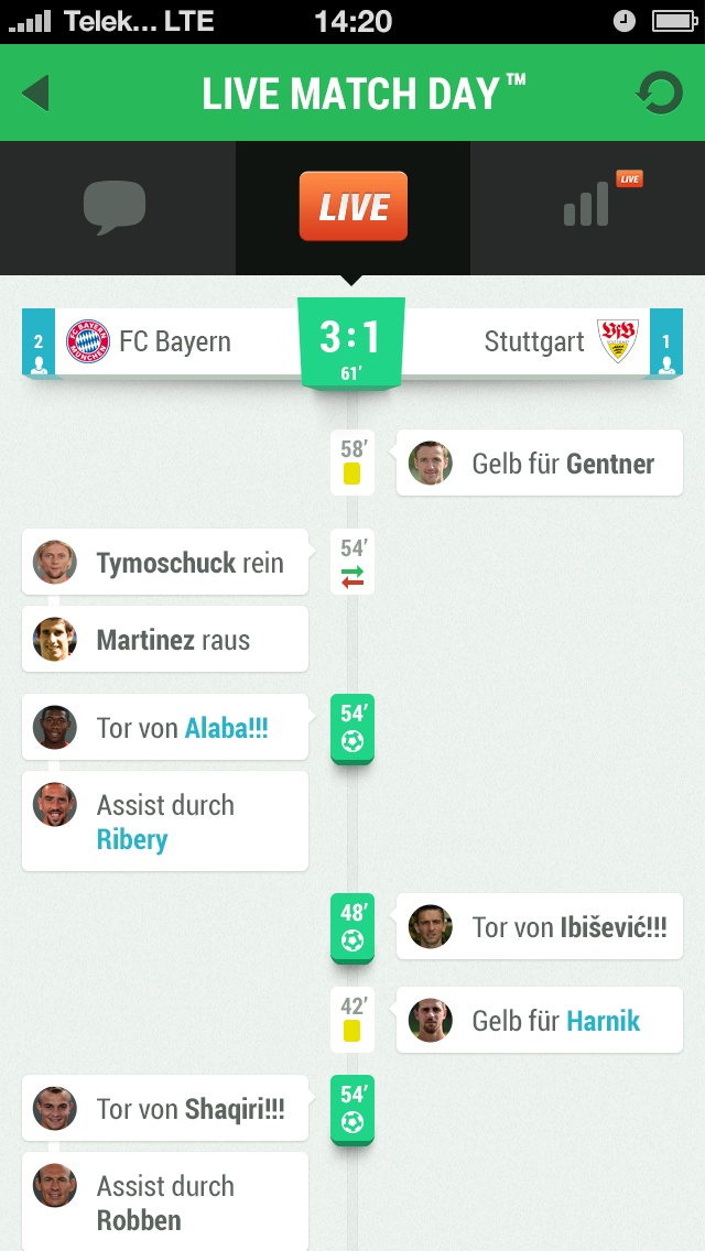 Life Match Day – COBE München User Interface