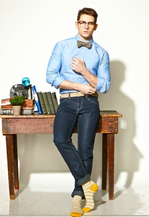 Jeans and bowtie