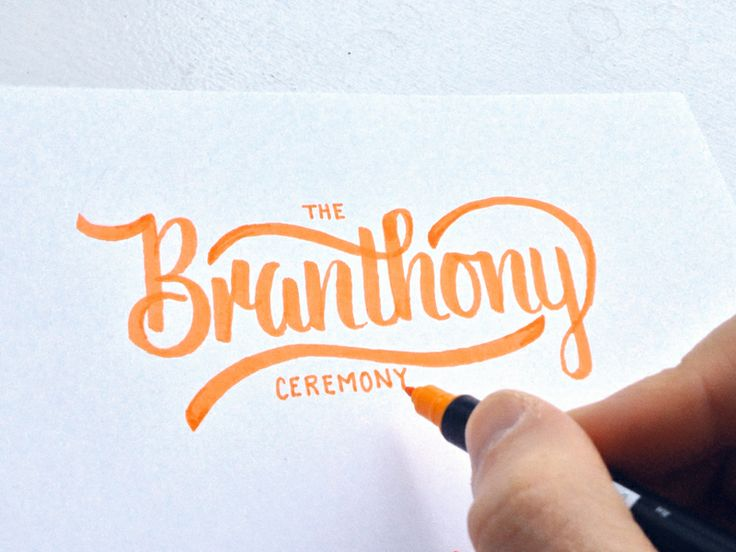 Branthony Sketch by Colin Tierney | Lettering
