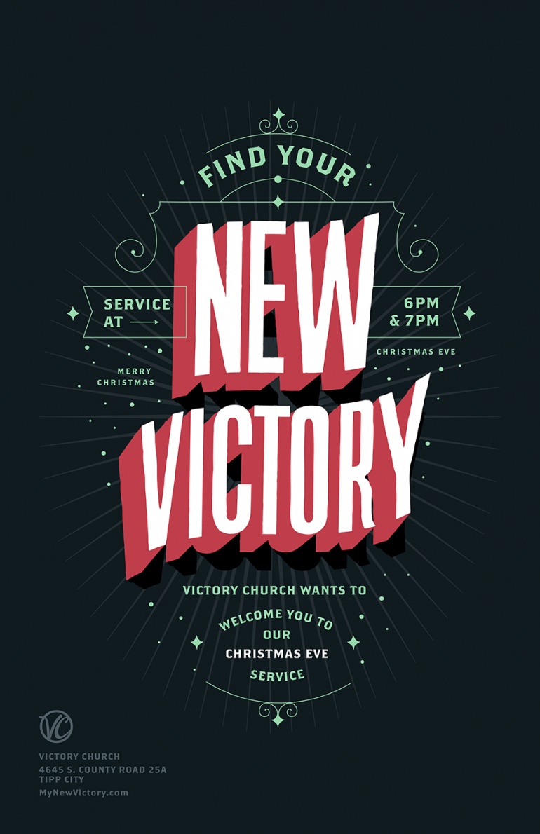 Christmas Eve Service Poster