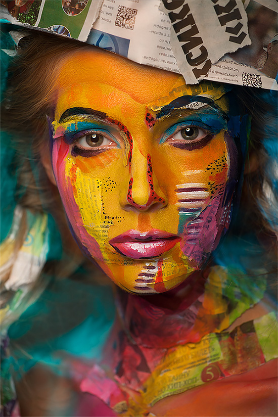 2D or not 2D: Beautful Face Paintings by Valeriya Kutsan