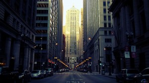 Chicago Board of Trade Building cities street lights wallpaper
