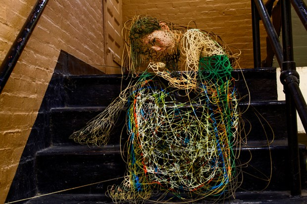 Creative Scribbled Lines Portraying Human Figure | Downgraf