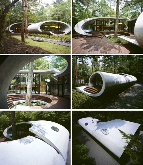 Curved Modern House