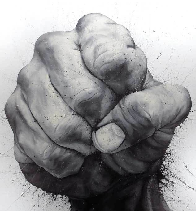 hand-drawn hand drawing by Paolo Troilo