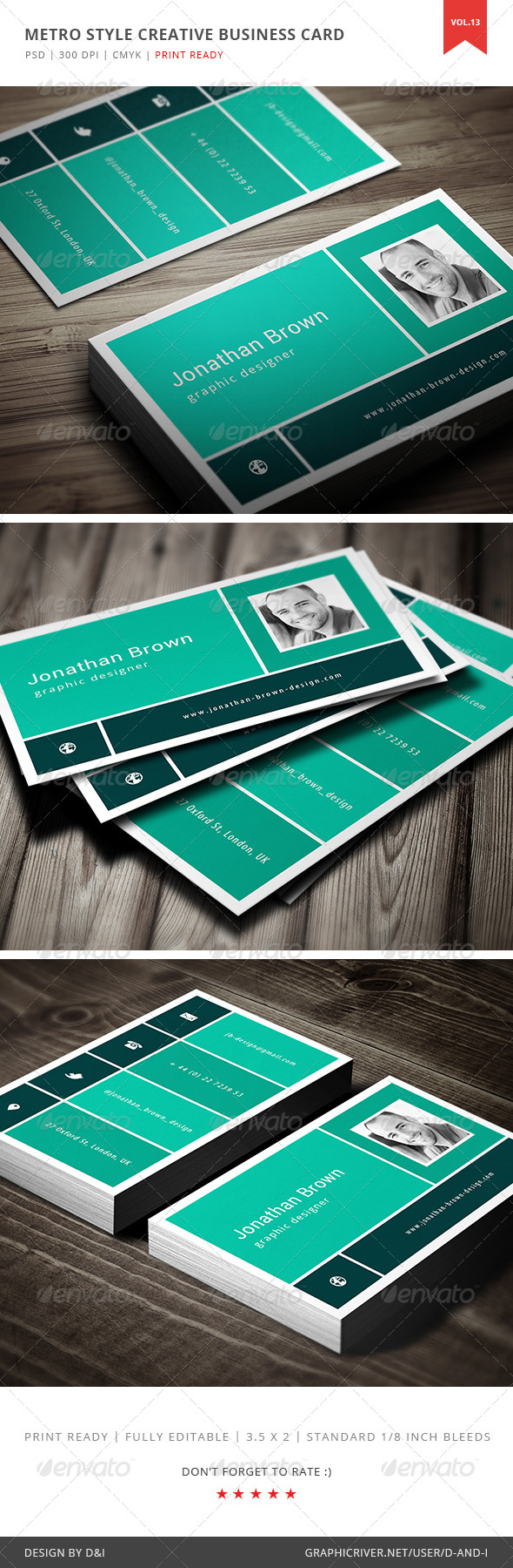 Metro Style Creative Business Card
