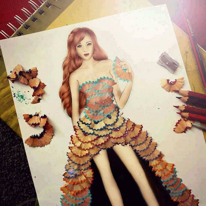 Dress made Out of Pencil Shaving | An Excellent Art