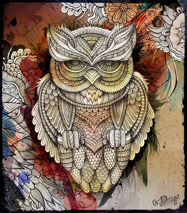 Owl illustration on Behance