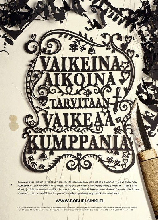 Paper cut typography