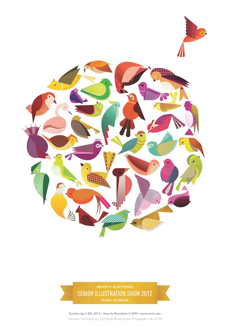 Poster design for the University of the Art's Senior Illustration Thesis Show of 2012 in P ...