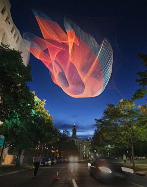 Suspended Structures by Janet Echelman