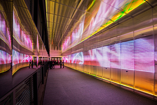 The Pixels Crossing: Interactive Installation by Miguel Chevalier | Inspiration Grid | Design In ...