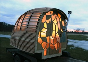This student-designed portable home may be the