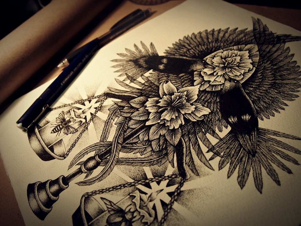 Dotwork Illustration by Annita Maslov