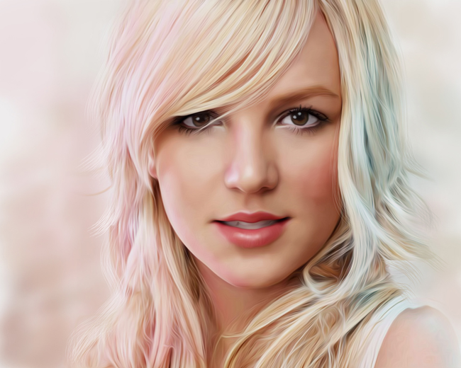 Digital Portraits of Britney Spears