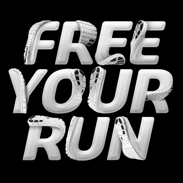 typography – Nike Free 5.0 Lettering