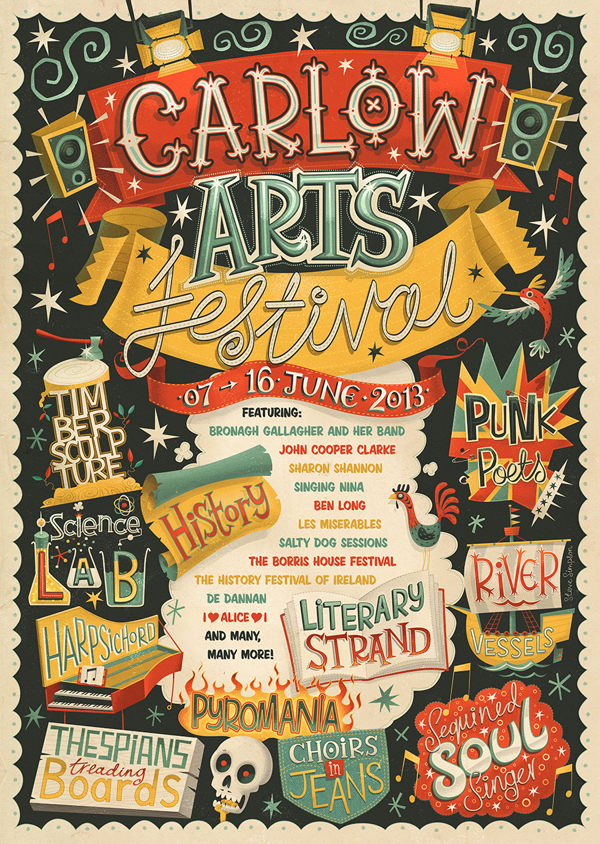Carlow Arts Festival – Poster on Typography Served
