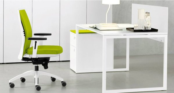 Minimalist Home Office Situation With White Desk,