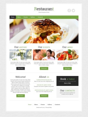 Zign Template 48173: 'Cafe Food' Responsive Template