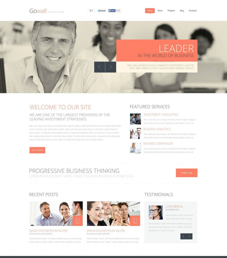 'Govall Business' Stretched Flash CMS Template