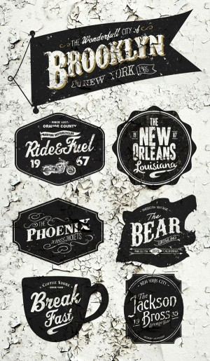 American Vintage Badges on Behance