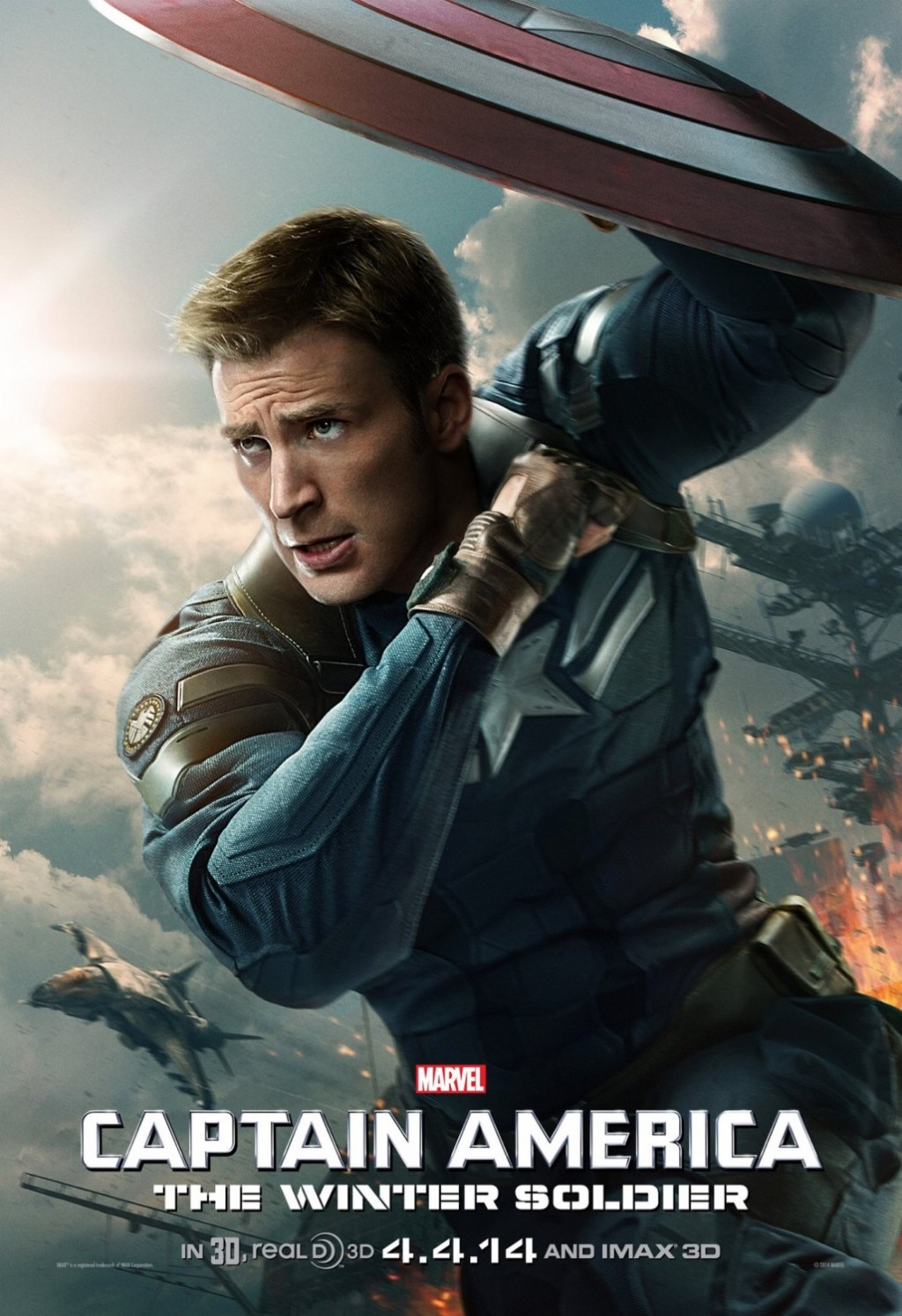 Captain America: The Winter Soldier – New Poster Shows Cap In Action