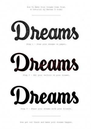 Dreams Tutorial by Nathan Yoder – Typography & Lettering