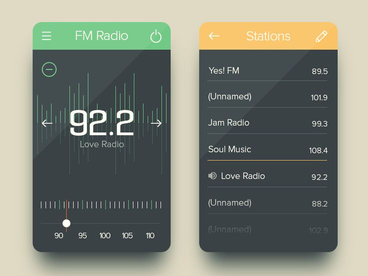 FM Radio UI | Graphical User Interface