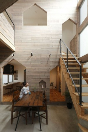 Minimalist single family house designed in 2013 by Alts Design Office situated in Kyoto, Japan.