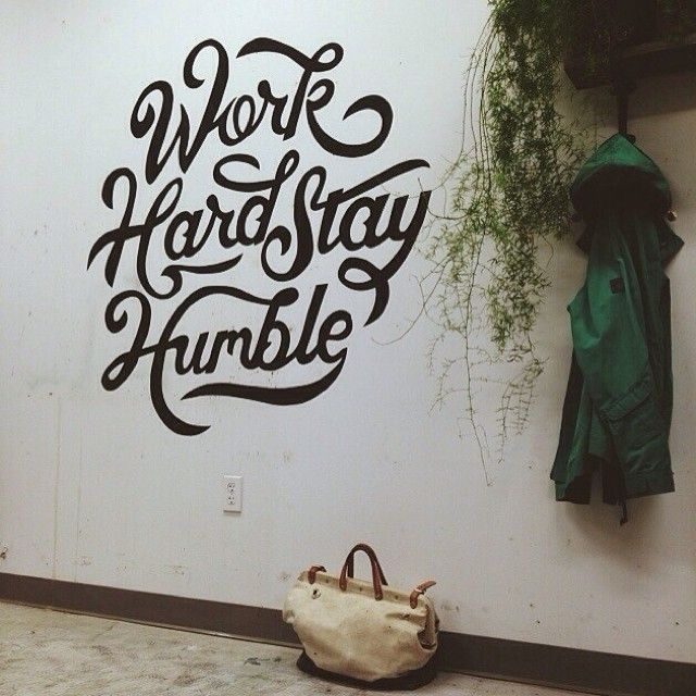 Type Hand Lettering Wall Painting Graphic Design Mural On Inspirationde