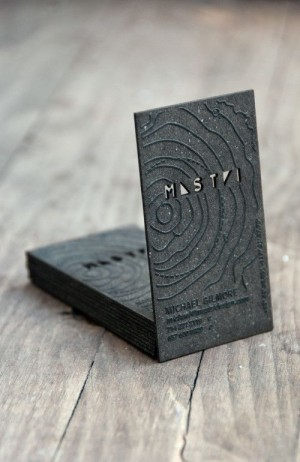 Unique Business Card for Michael Gilmore from Mastri Design. Created by StudioEQ.