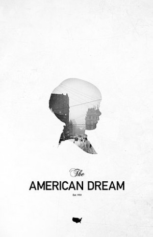 the american dream- make one of these for each city/dream accomplished