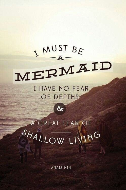 "A great fear of shallow living…I want something much deeper than the american ""dream ..."