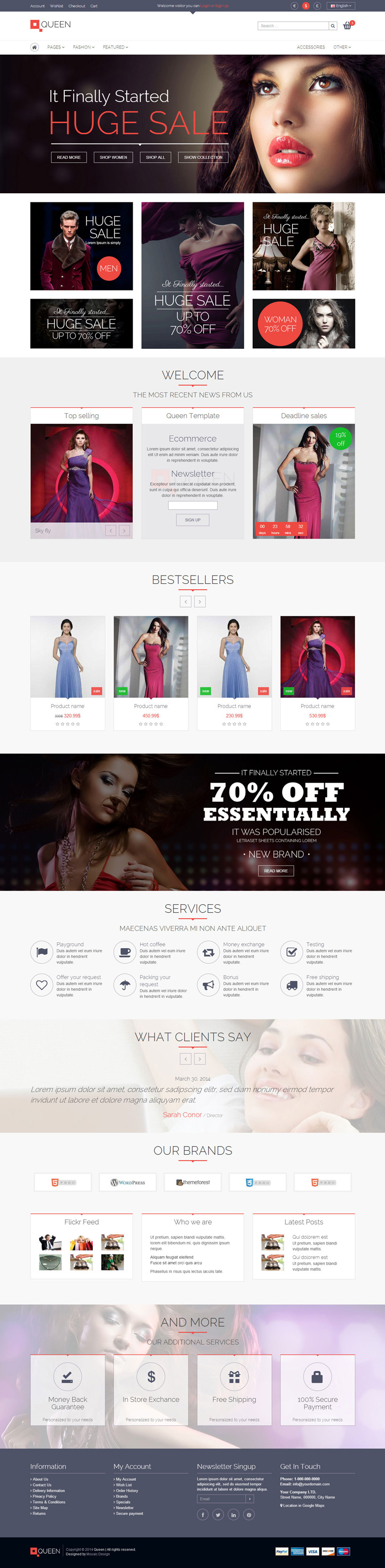 eCommerce, #fashion, clean, simple, block