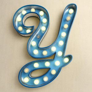 """""""Y"""", Todd Carosielli   Letters & Numbers"""