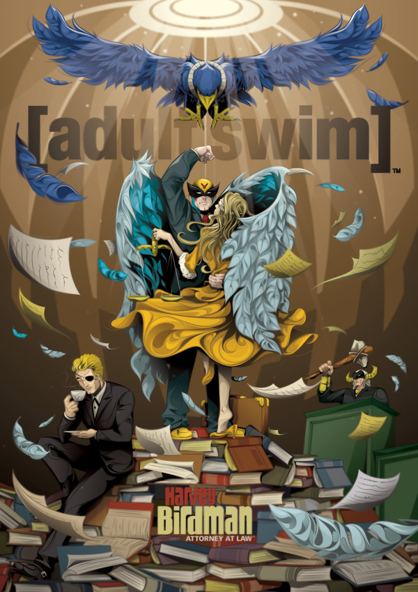 Adult Swim poster set created for channel promotion!