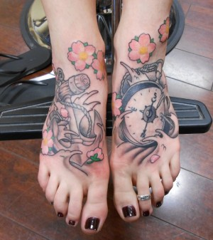 Compass Tattoo on Foot