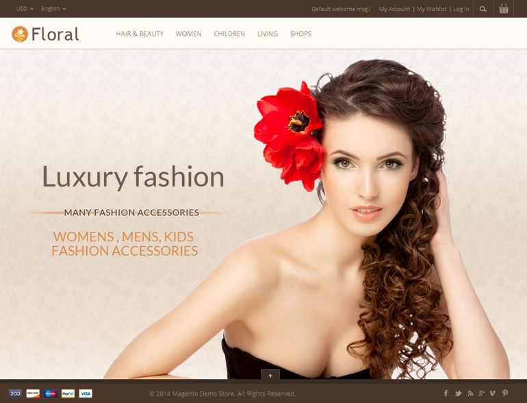 Floral – Magento Responsive Template