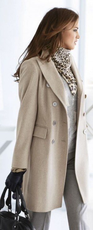 Gray, Beige, and Leopard |= | Fashion <3: Fall/Winter | Pinterest