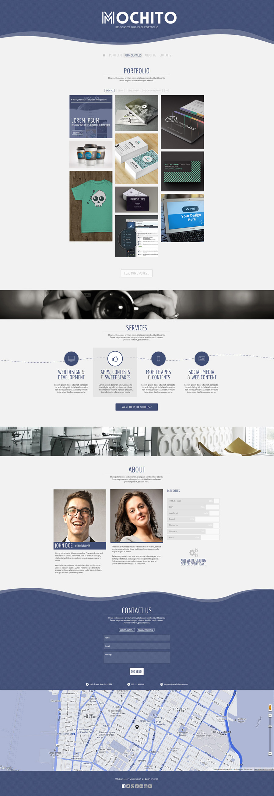 Mochito – One Page Portfolio Joomla template