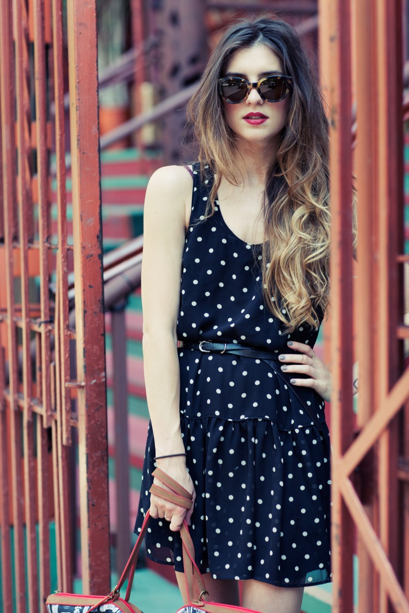 Polka Dot Dress And SEE Sunglasses
