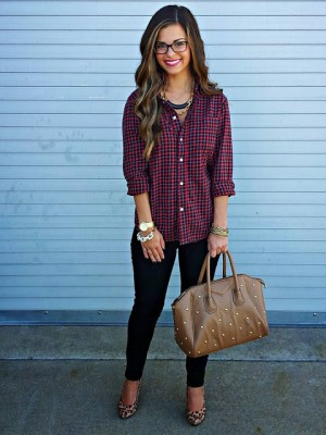 Mixing Men's Flannel + Heels