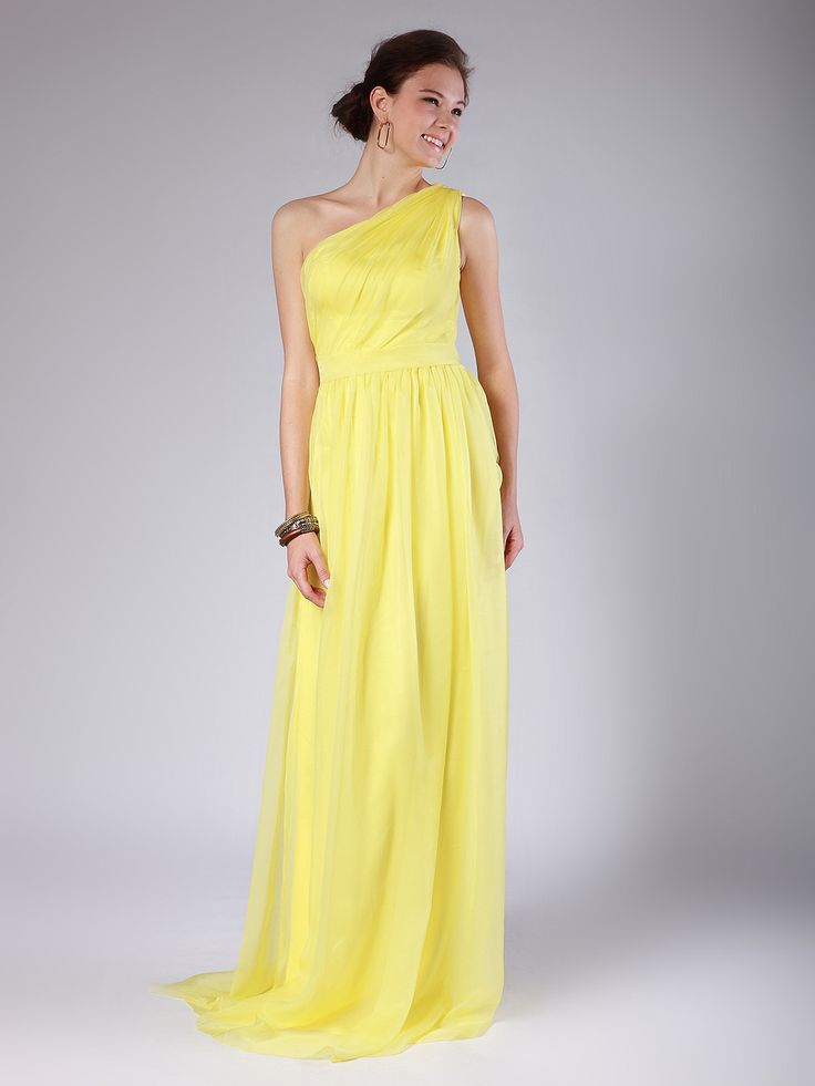 One Shoulder Column Bridesmaid Dress.. | To the 9's | Pinterest