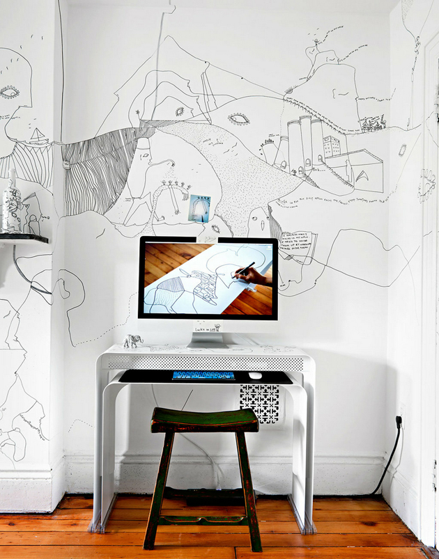 Shantell Martin : Brooklyn rooms with some fine lines
