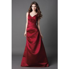 Trumpet/mermaid sweetheart glamorous with taffeta bridesmaid gown style | wedding-dress-bee.net