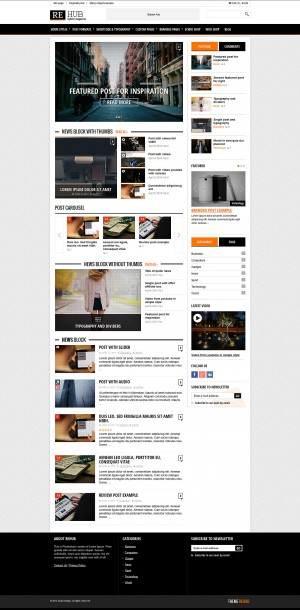 REHub is a modern hybrid theme for magazine, blog, review, shop options. It has emphasis on mode ...