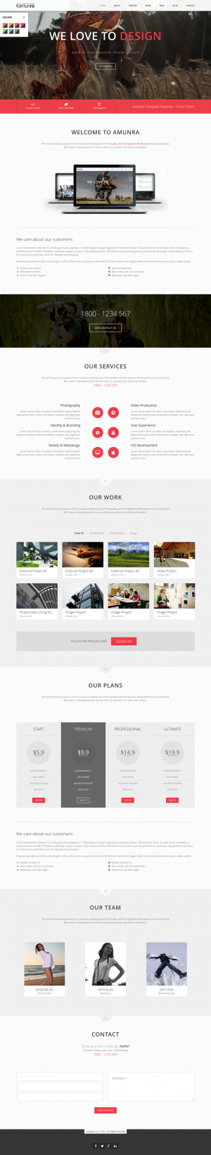 Amunra is clean, super flexible and has a fully responsive design! This template sets the new st ...