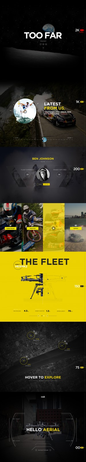 Drone Life – Web design Inspiration by Nick Ano